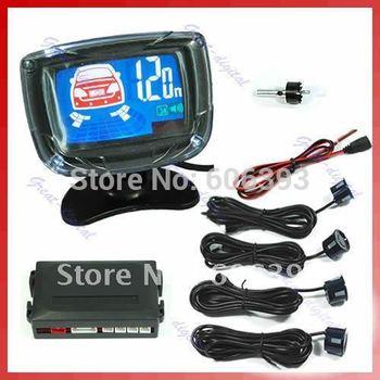 C18 1Set Car LCD 4 Reverse Parking Sensors Backup Radar Kit  6 colors sensor to choose