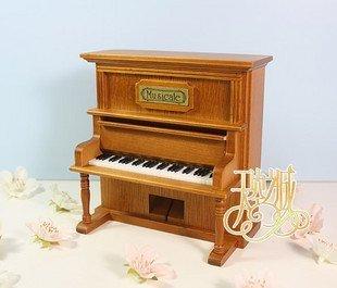 Music box, piano music box, system simulation of real wood of piano music box, birthday gift, handicraft,free shipping