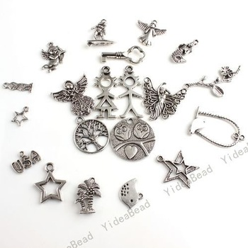 80 Mixed Charms Pendants Beads Silver Tone Assorted Pandent Fit DIY Handcraft IN Stock 140628
