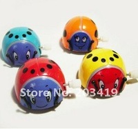 cute wind up running little beetle ladybug insects toy multi-colors can turn a somersault in circles cn post