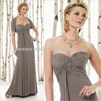 Tn0027 Beautiful Sweetheart Beaded Bolero Coat Chiffon Mother Of Bride Dress