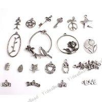 80 Mixed 20 design Charms Pendants Beads Assorted Loop METAL Pandent Fit DIY Handcraft 140653