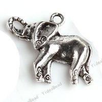 70 Elephant Charms Pendants Beads METAL Pandent Loop Bead Fit DIY Handcraft 29*20mm in stock 140663