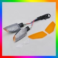 Free Shipping Best Selling 2pcs 11 LED Motorcycle Indicator Turn Signal Light Orange  Brand New [P124]