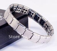 80 germanium Stones Healthy Energy Scalar stainless steel germanium Bracelet 150pcs