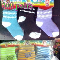 300pairs/lot New cotten Baby socks, children socks, 0-5 years old Multi-styles Random color 12pairs/dozen