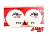 Free shipping DHS 3-STAR TABLE TENNIS BALLS ITTF OLYMPIC BEST PING PONG White NEW