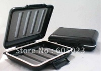 wholesale 30pcs/lot durable and light MH pocket fly box fishing plastic box tackle box