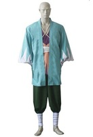 Wholesale Free Shipping Hot Selling Cheapest New Halloween Cosplay Costume CE1705 Hakuoki Shinpachi Nagakura