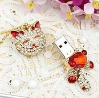 Free Shipping Guaranteed Full Capacity Crystal Heart of Love USB Flash Memory Drive,Modell:cat