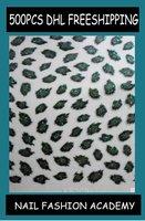 DHL FAST FREE SHIPPING XF301-312 LEOPARD nail art stickers, nail decals,MQO 500 pcs, Free shipping