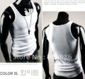 Free Shipping Hot Sale Fashion Men Sleeveless Cotton T Shirt Tank Tops  1 piece a lot
