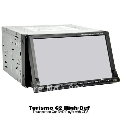2-DIN High Definition 7 Inch True Touchscreen Car DVD Player System with GPS Navigator ISDB-T(China (Mainland))