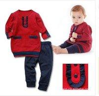 New children's autumn outfit Free shipping childdren suit, Children Clothes/ children pure cotton,,4sets/lot,4 size