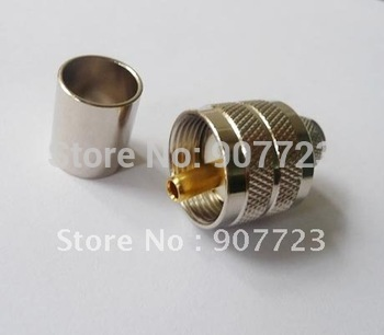 PL259 UHF Male Crimp PL259 nake Plug RF Connector for RG8 RG213 LMR400