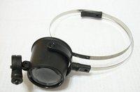 Free Shipping,1pcs/lot, monocle magnifier Eyewear Style with LED Light/LED Eye Loupe/Portable Magnifier