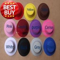 Free Shipping Mix Colour Small Top Hat Mini Top Hat 20pcs/lot #11Color