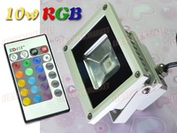 Free Shipping 10W RGB 220v led floodlight + Remote Controller (wholesale and retail)