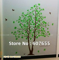 145CM*170CM,many diffient size,HOT SALE!Free shipping!fashion lover tree decorative room wall sticker paper