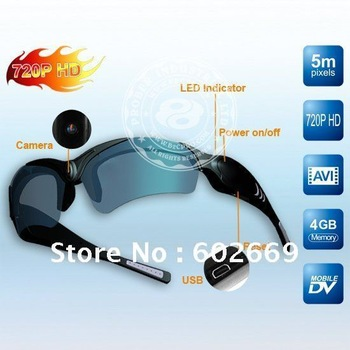 HD Mini Camcorder, DVR Camera Sunglasses (X4s)DHL Free Shipping