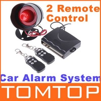 Car alarm security system 1-Way Car Alarm Protection System with 2 Remote Control auto burglar alarm system free shipping