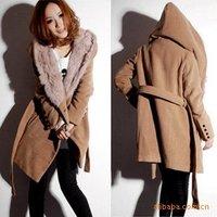 Free shipping,2014 new style,wholesale,Women's coat/winter warm long coat,woolen jacket