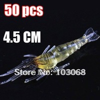 New Shrimp Shape Fishing Baits Fishing Lure Fishing Tackle Soft Lure 4.5CM 1.2g Free Shipping