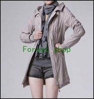 New beautiful fashion with a slim zipper ladies windbreaker(XJB140)