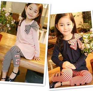 wholesale 5sets/lot New Arrival! AUTUMN baby dress, girl dress, baby girl long sleeve t-shirt + leggings SET, toddler Dress