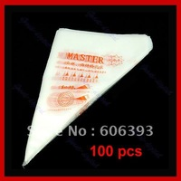 C18100x Disposable Pastry Bag Cake Icing Piping Decorating+Free Shipping