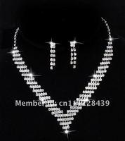 Free Shipping, Wedding Jewelry, Bridal Necklace Set, Fashion Jewelry, 3 SETS/ LOT NL00083