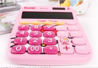 Hotsale+Hello Kitty 12 Digits Calculator/Folding calculator/Electronic calculator/Counter/Cartoon/Lovely/Free shipping