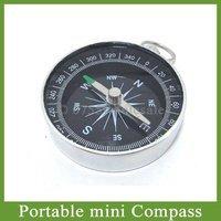 Free shipping 100pcs/lot Mini Portable Aluminum Travel Compass