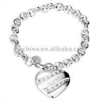 Wholsale, 925 Sterling Silver fashion jewelry bracelet.nice bangle free shipping,Penoyjewelry B191