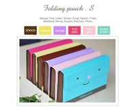 hotselling wholesale lovable face folding pouch, checkbook wallet