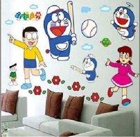Free shipping,DIY wall stickers wall stickers Korean children cartoon A Dream Doraemon Doraemon TC971,wholesale 100pcs/lot