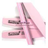 Pink washable 20xKorea Nail file 100/180 good quality for nail art Manicure kits /nail file  Free shipping wholesale