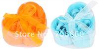 Soap Flower Soap Rose Handmade Rose Petals Best Gift For Birthday Wedding Holiday 5packs(15pcs)/lot