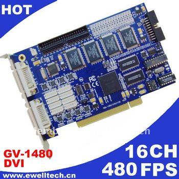 DHL free shipping GV1480 16ch 480Fps V8.2 GV Card / GV-1480 dvr card