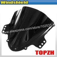 Free Shipping Black Motorcycle Windshield WindScreen Suzuki GSXR 1000 K5 GSX-R 05-06 Y363