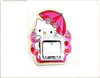 New 2014 Hot sale!free shipping!20pc/lot,86mm*86mm,cartoon kitty light Luminous switch stickers wall sticker