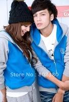 Hot Sale,Free Shipping .Korea Fashion Men Cute Long Coat,Velvet Coat.Men's Winter Coat
