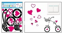 Hot sale!100pc/lot,Free shipping!17*25cm,cartoon switch stickers,switch paper wall sticker