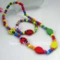 fashion kids jewelry set handmade wood jewelry set with necklace&amp;bracelet  12set Free shipping WS001