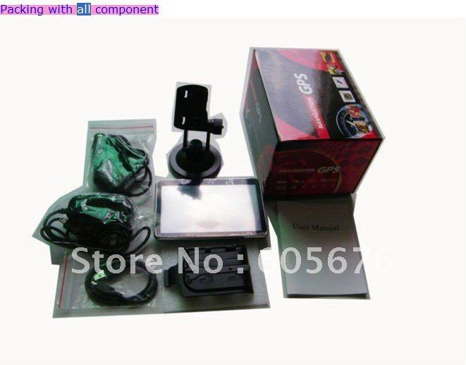 best selling free shipping 5 inch GPS Navigation with bluetooth and AV-IN jack BT-GPS1501(China (Mainland))