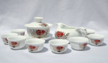 10pcs smart China Tea Set, Pottery Teaset, Chinese Mask ,TM06,Free Shipping