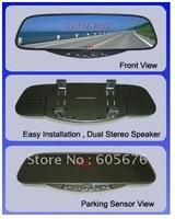 Car Bluetooth Hands free Rear view Mirror+Ear piece+Parking Sensor Auto Car Part