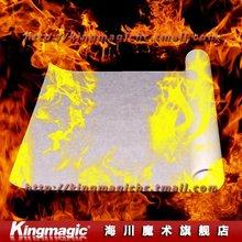 Wholesale 10pcs/lot  Large Fire Paper(50*20cm) White Flash Paper Magic Tricks Magic Props Free shipping(China (Mainland))