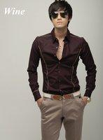 Мужская классическая рубашка men blouse hot shirt Business Men's slim fit dress shirts long sleeve cotton comfortble tops XS-XXXL US2
