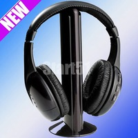 wholesale free shipping Wireless Earphone Headphone 5 in 1 for MP3 PC TV CD